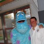 Notre fidèle mascotte et le Président du Royal Mosa Jambes