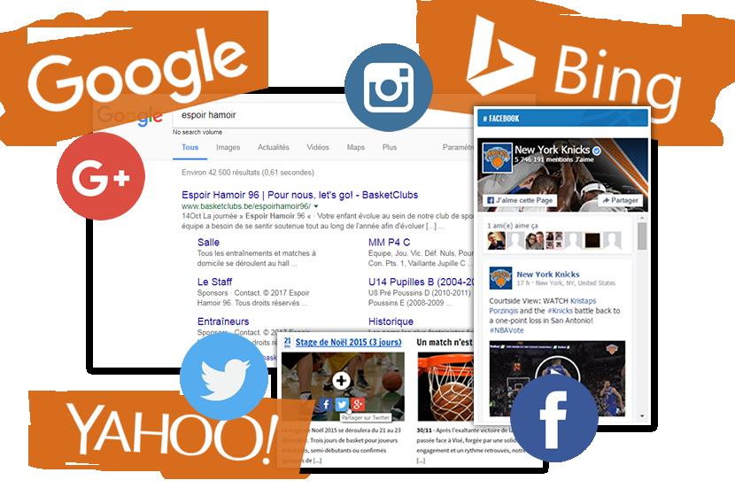 Réseaux sociaux et moteurs de recherche